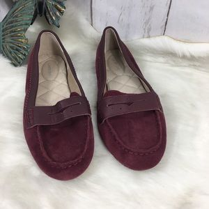 Lands end purple suede loafers size 8.5 D